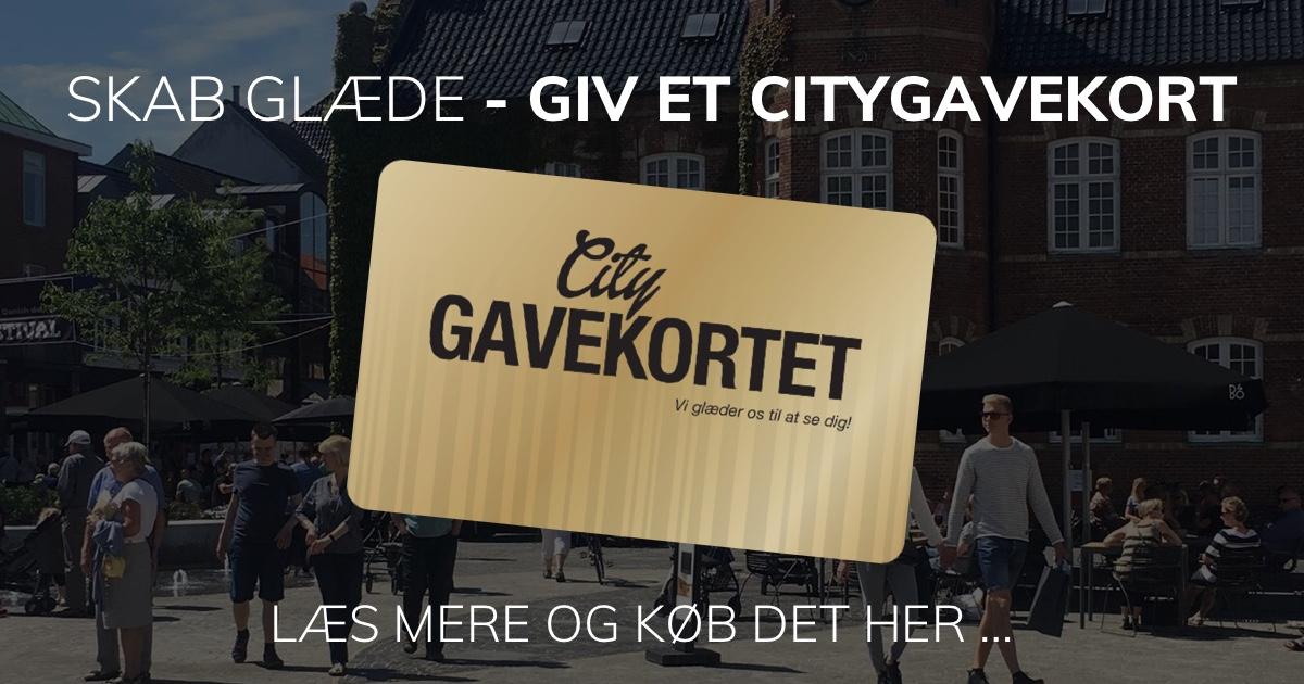 Skab glæde - giv et citygavekort
